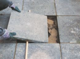 How to replace a paving slab
